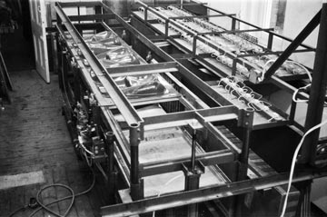 Image: Andrew Ainsworth's 1976 plastic moulding machinery at Shepperton Design Studios