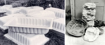 Image: HDPE items made by Andrew in 1976