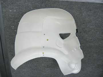 Image: section through the helmet showing the large undercuts in the design